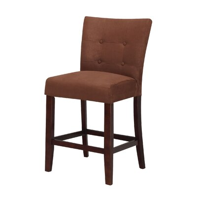 Baldwin Bar Stool Upholstery Color: Chocolate