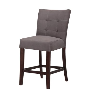 Baldwin Bar Stool Upholstery Color: Gray