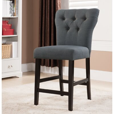 Effie Bar Stool Upholstery Color: Gray