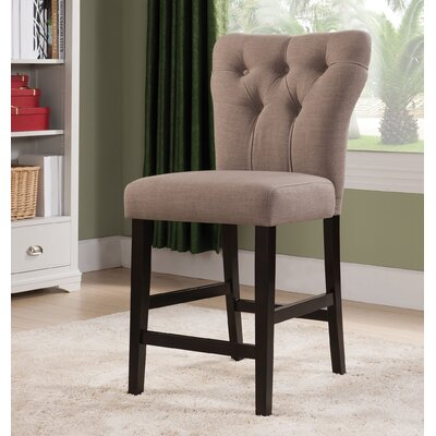 Effie Bar Stool Upholstery Color: Light Brown