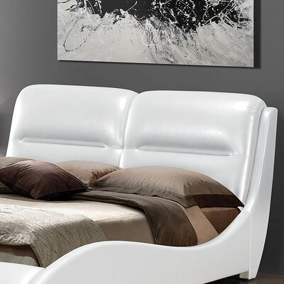 Romney Upholstered Sleigh Headboard Size: Queen