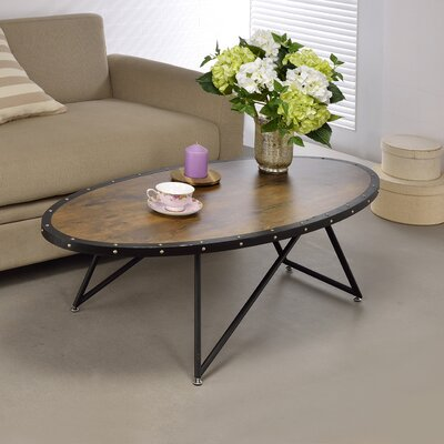 Allis Coffee Table Top Color: Brown/Black