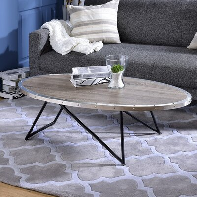 Allis Coffee Table Top Finish: Gray/Silver
