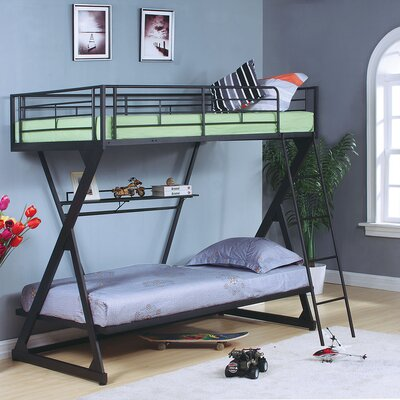 Zazie Twin Bunk Bed with Bookshelf