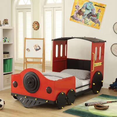 Tobi Twin Car Bed Finish: Red