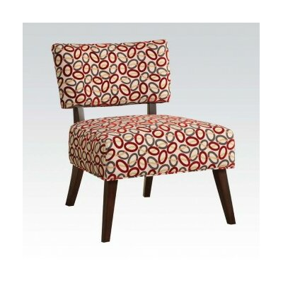 Able Slipper Chair Upholstery: Red