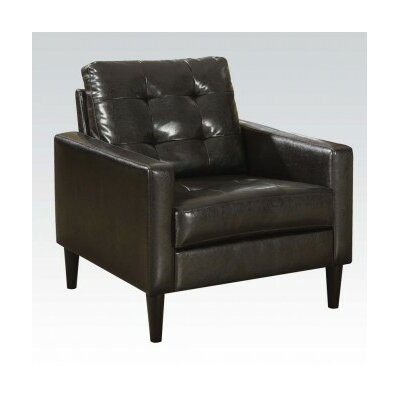 Balin PU Club Chair Upholstery Color: Espresso