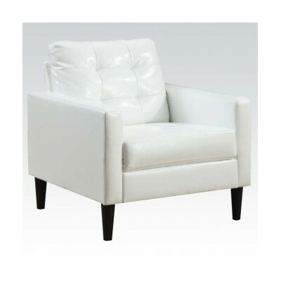 Balin Pu Club Chair Upholstery Color: White