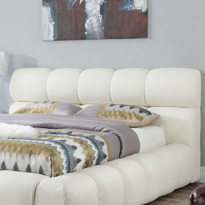 Acacia Upholstered Panel Headboard Size: Queen