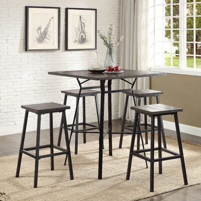 Dora 5 Piece Pub Table Set Finish: Weathered Dark Oak