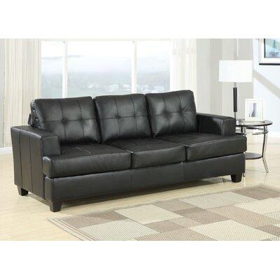 Platinum Queen Sleeper Sofa Upholstery: Black