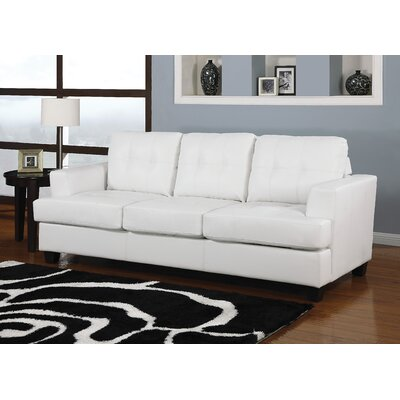 Platinum Queen Sleeper Sofa Upholstery: White