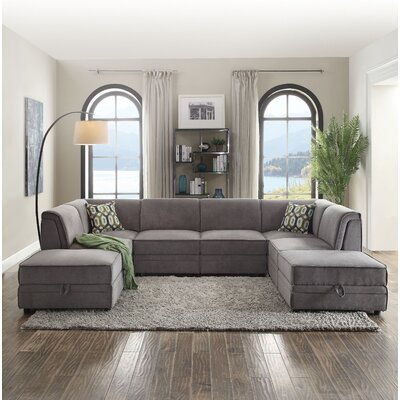 Bois Reversible Modular Sectional with Ottoman