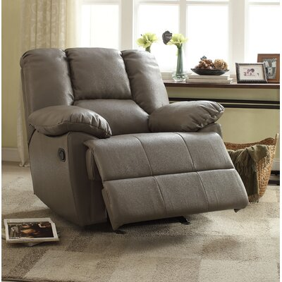 Oliver Manual Glider Recliner Upholstery: Gray