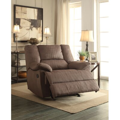 Oliver Manual Glider Recliner Upholstery: Dark Gray