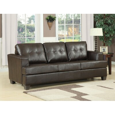 Platinum Queen Sleeper Sofa Upholstery: Brown