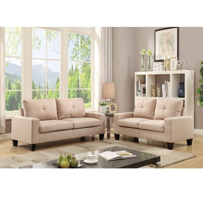 Platinum II Sofa and Loveseat Set Upholstery: Beige