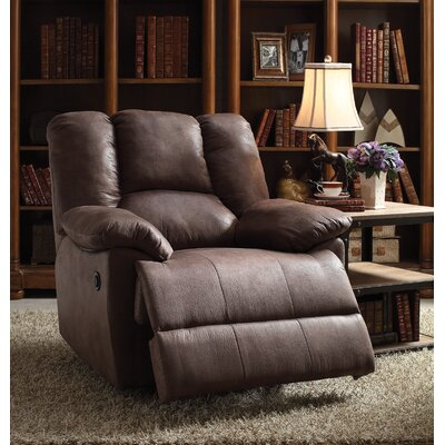 Oliver Power Recliner Upholstery: Brown