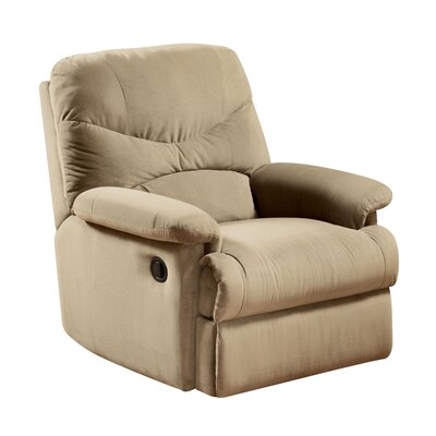 Arcadia Manual Glider Recliner Upholstery: Beige
