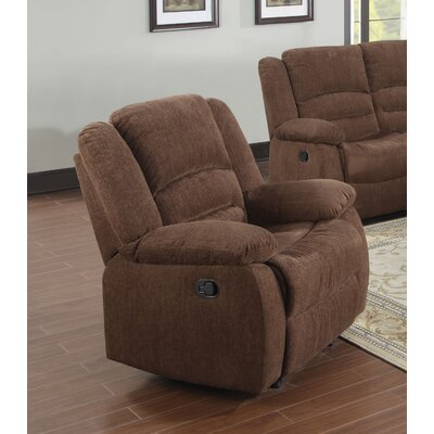 Bailey Manual Rocker Recliner Upholstery: Dark Brown Chenille