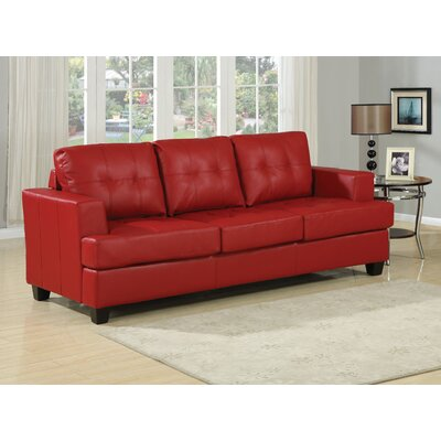 Platinum Queen Sleeper Sofa Upholstery: Red