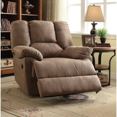 Oliver Power Motion Recliner Upholstery: Light Brown