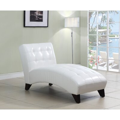 Anna Lounge Chaise Upholstery: White