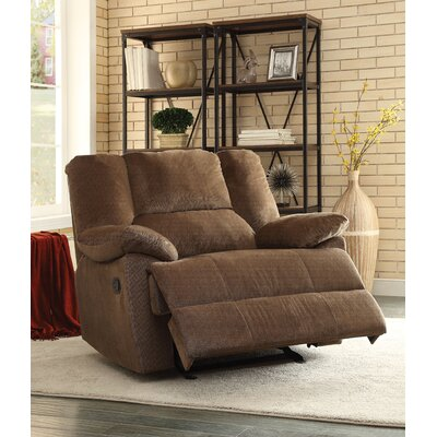 Oliver Oversized Glider Recliner Upholstery: Chocolate