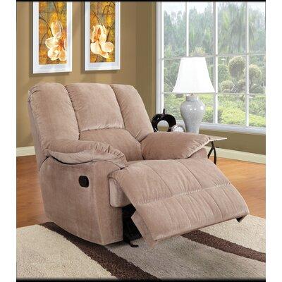Oliver Glider Recliner Upholstery: Sage