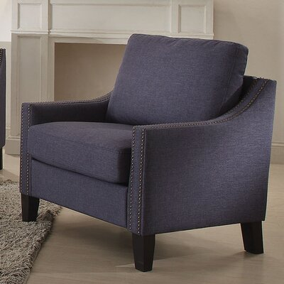 Zapata Linen Arm Chair Upholstery Color: Brown