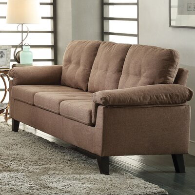 Cleavon Loveseat Upholstery: Brown