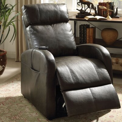 Ricardo Power Rocker Recliner Upholstery Color: Dark Gray