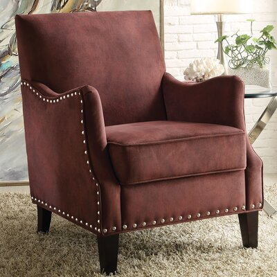 Sinai Armchair Upholstery Color: Rust Red