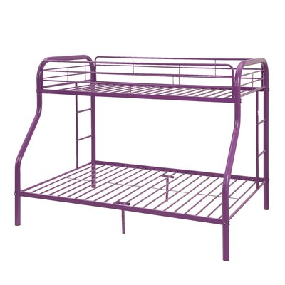 Tritan Bunk Bed Size: Twin Over Full, Color: Purple