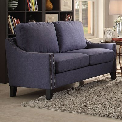 Zapata Loveseat Upholstery: Brown