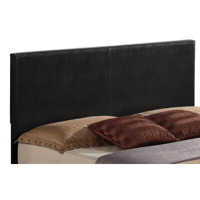 Ireland Upholstered Panel Headboard Size: Full, Upholstery: Black