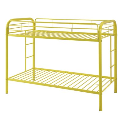 Thomas Twin Over Twin Bunk Bed Color: Yellow