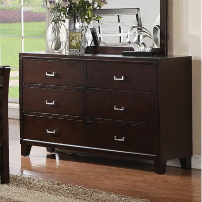 Preston 6 Drawer Double Dresser