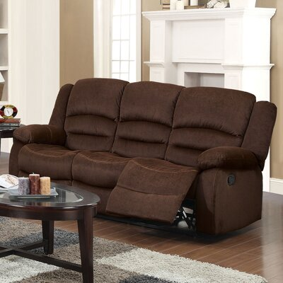 Bailey Motion Reclining Sofa Upholstery: Chocolate Velvet