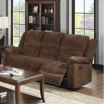 Bailey Motion Reclining Sofa Upholstery: Dark Brown Chenille