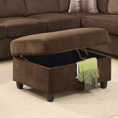 Belville Storage Ottoman Upholstery: Chocolate