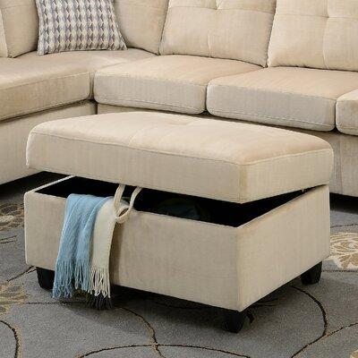 Belville Storage Ottoman Upholstery: Beige