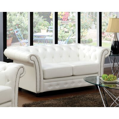 Camden Leather Chesterfield Loveseat
