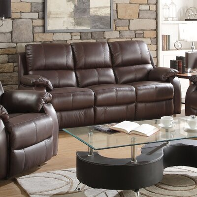 Enoch Leather Reclining Sofa