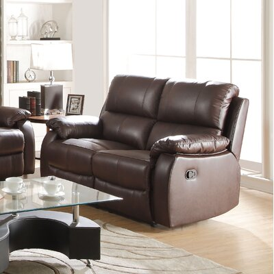 Enoch Leather Reclining Loveseat