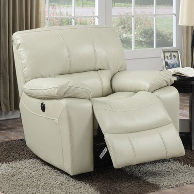 Kimberly Power Recliner Upholstery: Cream
