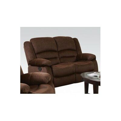Bailey Motion Loveseat Upholstery: Chocolate Velvet