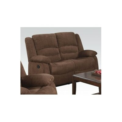 Bailey Motion Reclining Loveseat Upholstery: Dark Brown Chenille