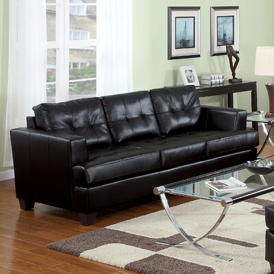Platinum Sofa Upholstery: Black