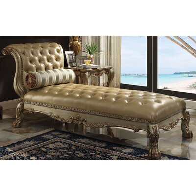 Dresden Chaise Lounge Upholstery: Gold Patina
